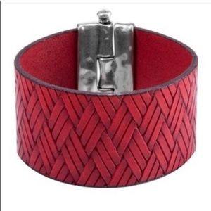 Uno de 50 Red Leather Cuff Retired